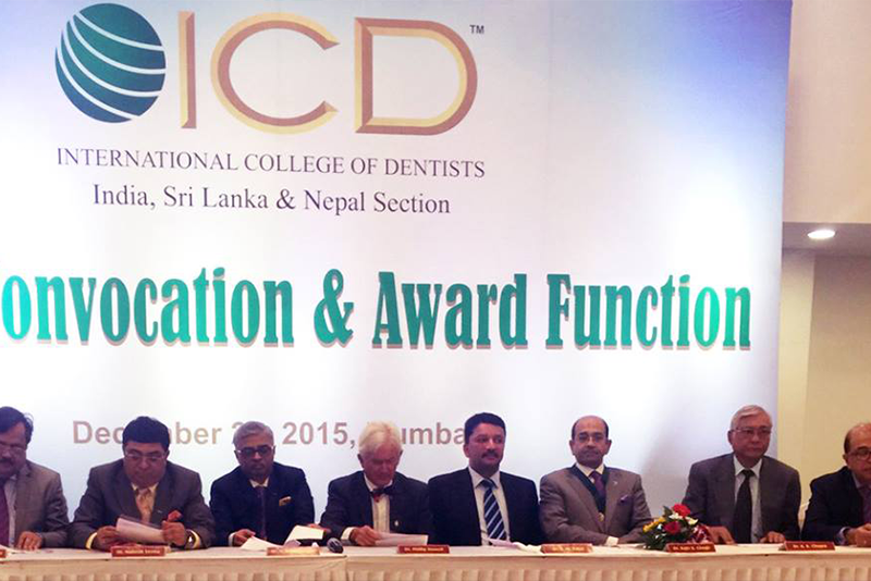 Dr. S.M. Balaji elected President of International College of Dentists (ICD) India, Sri Lanka & Nepal Section at the ICD Annual Convocation & Award Function held at Mumbai