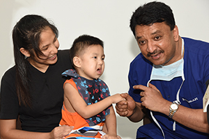 Life-saving jaw surgery for Chinese baby from Singapore suffering from potentially fatal facial bone condition