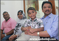 The Child With Dr. S.m. Balaji Before Dental Implant Surgery