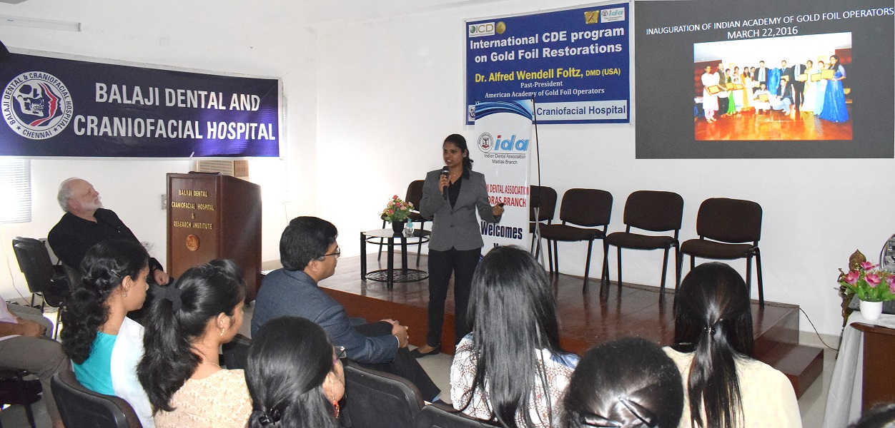 Dr. Poornima at the CDE program