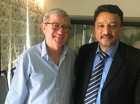 Dr. S.M. Balaji with Dr. Alexander Moule of Australia at the conclusion of the conference