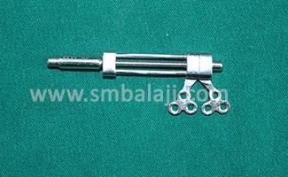 Mandibular univector internal distractor with rigid and flexible activation arms