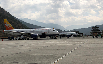 A View Of Paro Airport, Which Is Located At An Elevation Of 2235 Meters Above Sea Level