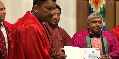 Prof. S.M. Balaji conferred the Craniofacial Research Fellowship Award