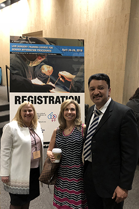 Prof S M Balaji with Dr Gail Knudson, President, World Professional Association for Transgender Health (WPATH) and CoChair, Global Education Initiative and Dr. Randi Ettner, Secretary, WPATH