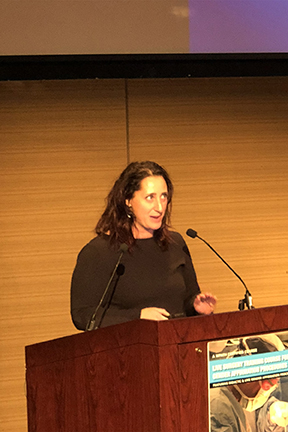 Dr Cecile Unger At Her Presentation At The First Live Surgery Symposium Of The Wpath Held At The Icahn School Of Medicine At Mount Sinai, New York City, Usa