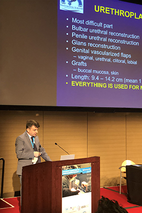 A presentation by an Urethroplasty Specialist at the WPATH Symposium held at Icahn School of Medicine at Mount Sinai, New York City, USA