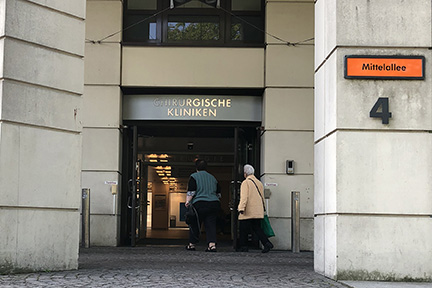 A view of the Charite Universitatsmedizin Berlin