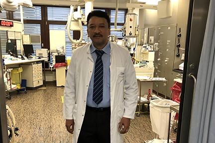 Prof S M Balaji during morning ward rounds at the Charite Berlin