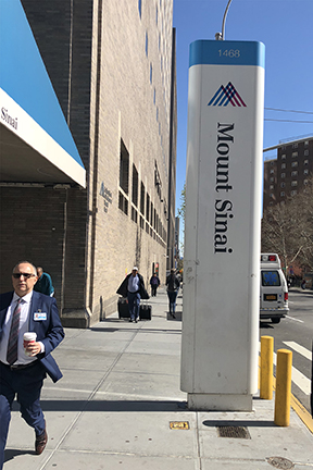 A View Of The Exterior Of The Prestigious Icahn School Of Medicine At Mount Sinai, New York City, Usa