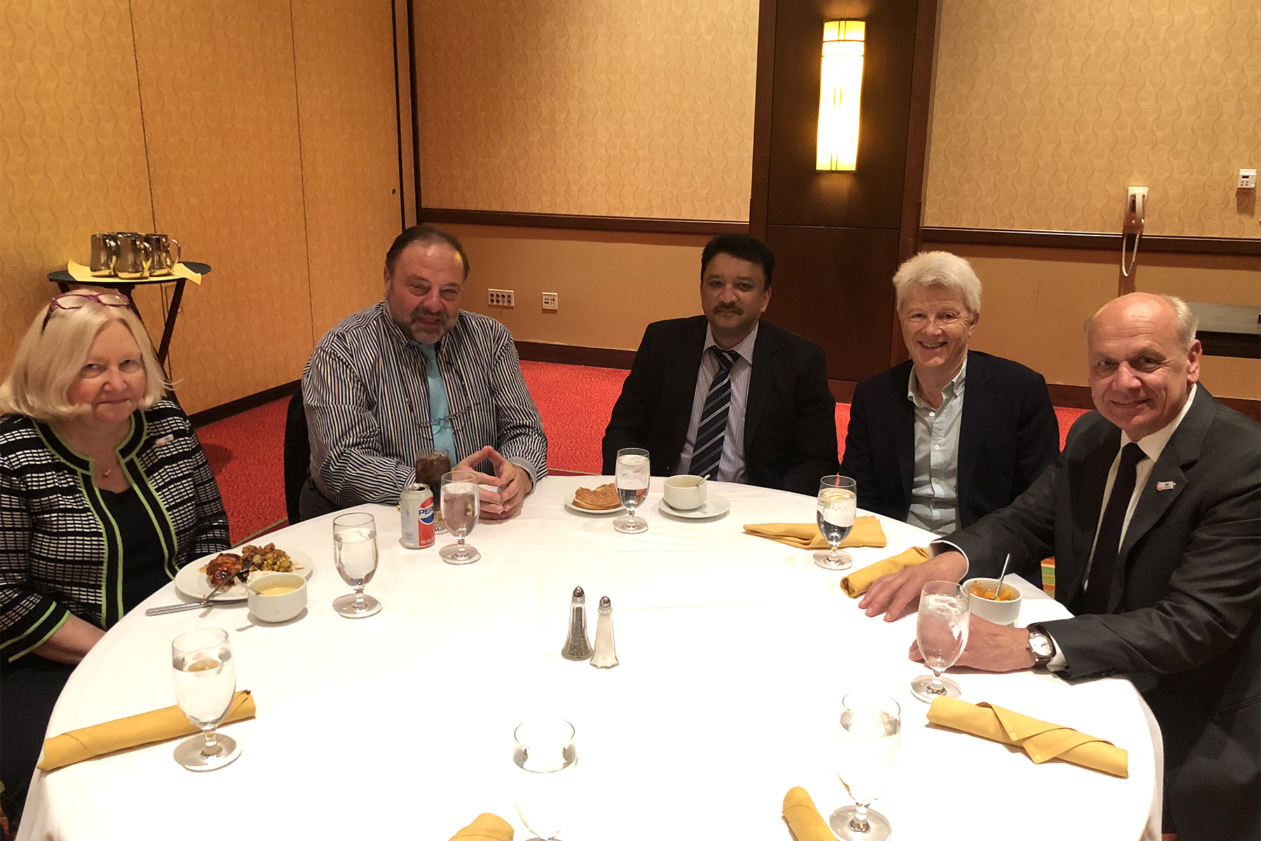 Dr SM Balaji at a luncheon meet with Dr Kathryn Kell, President, FDI, Dr Nikolai Sharkov Council Member