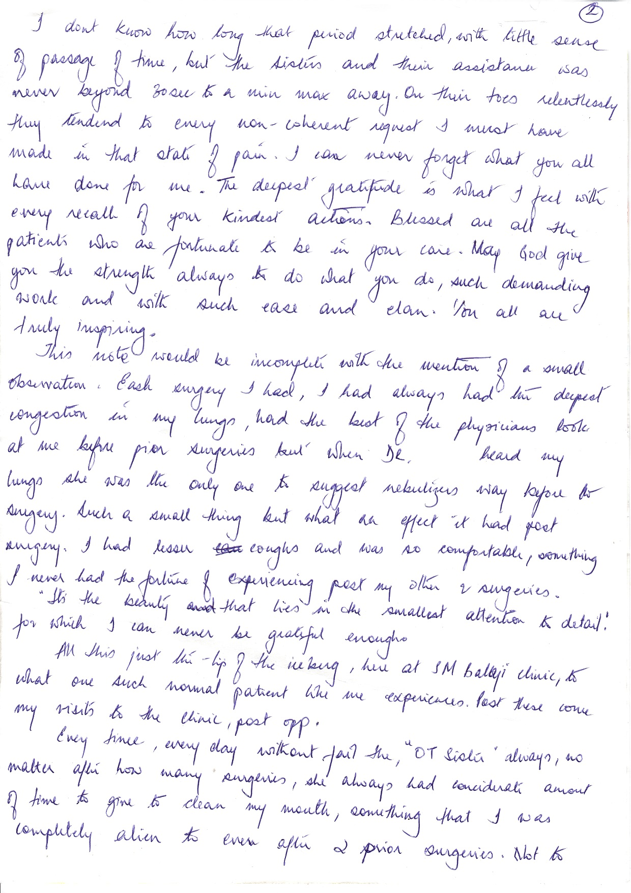 Patient Testimonials Balaji Dental Hospital