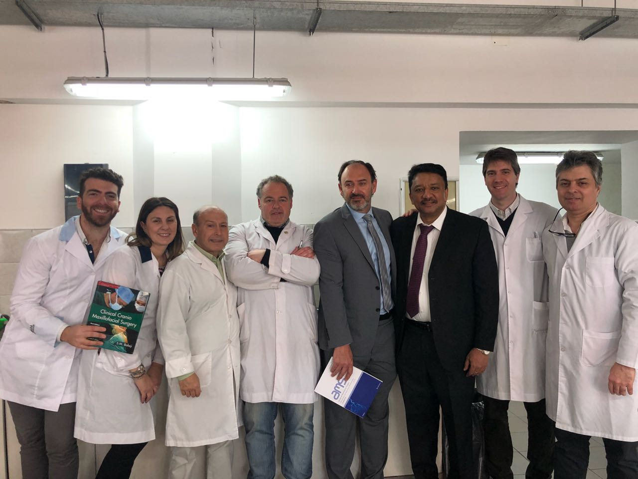 Dr Sm Balaji With The Staff And Residents Of The Department After Presenting The Clinical Craniomaxillofacial Surgery Textbook And Ams Journal