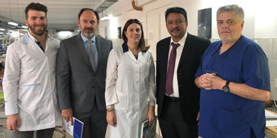 Dr SM Balaji with Prof Sergio Gotta, Dr Maricel Marini and residents of the Department of Oral and Maxillofacial Surgery