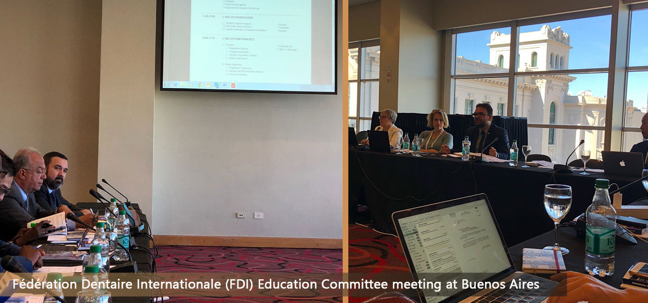 A presentation at the Education Committee meeting