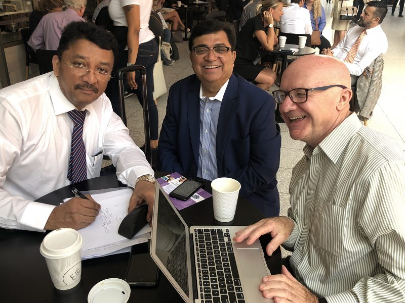 Dr SM Balaji with Dr David Alexander and Dr Mahesh Verma
