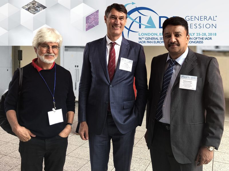 Dr SM Balaji with Prof Thomas Frank Flemmig