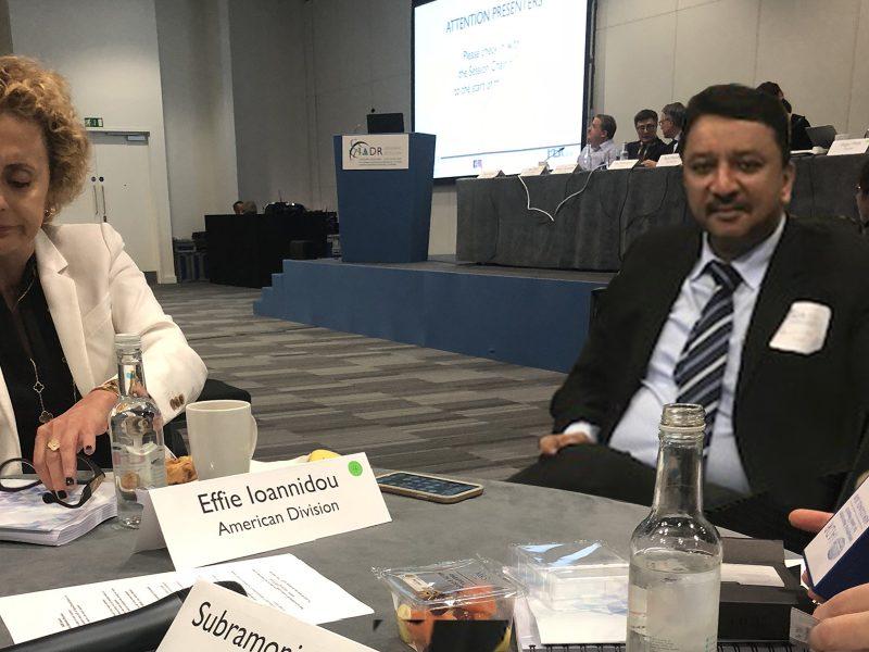 Dr SM Balaji at the IADR Council meeting