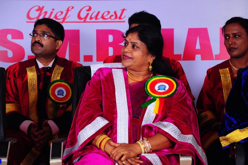 Prof Mala during Dr SM Balaji's speech