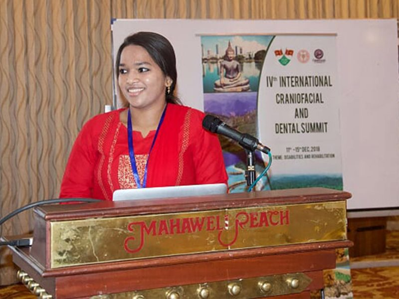 Dr Preetha Balaji At Her Paper Presentation On The Management Of Hemifacial Microsomia At The Recently Concluded Dental And Craniofacial Summit