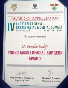 Young Maxillofacial Surgeon Award