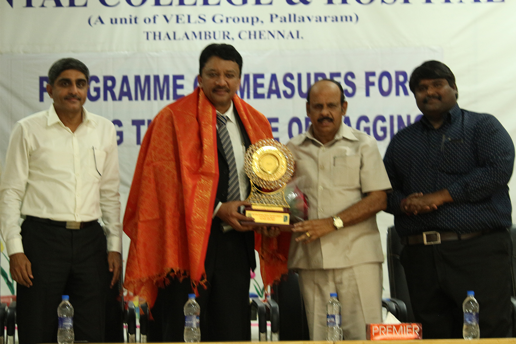 Dr Sm Balaji With Dr Jothimurugan, Vice Chancellor, Vels University