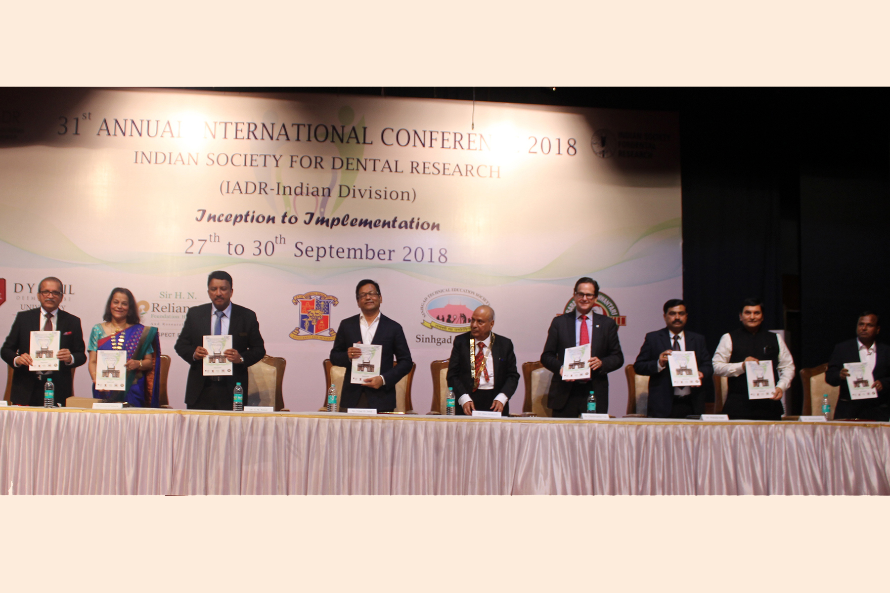 Release of the conference souvenir by the dignitaries at the 31st Annual Conference of the ISDR