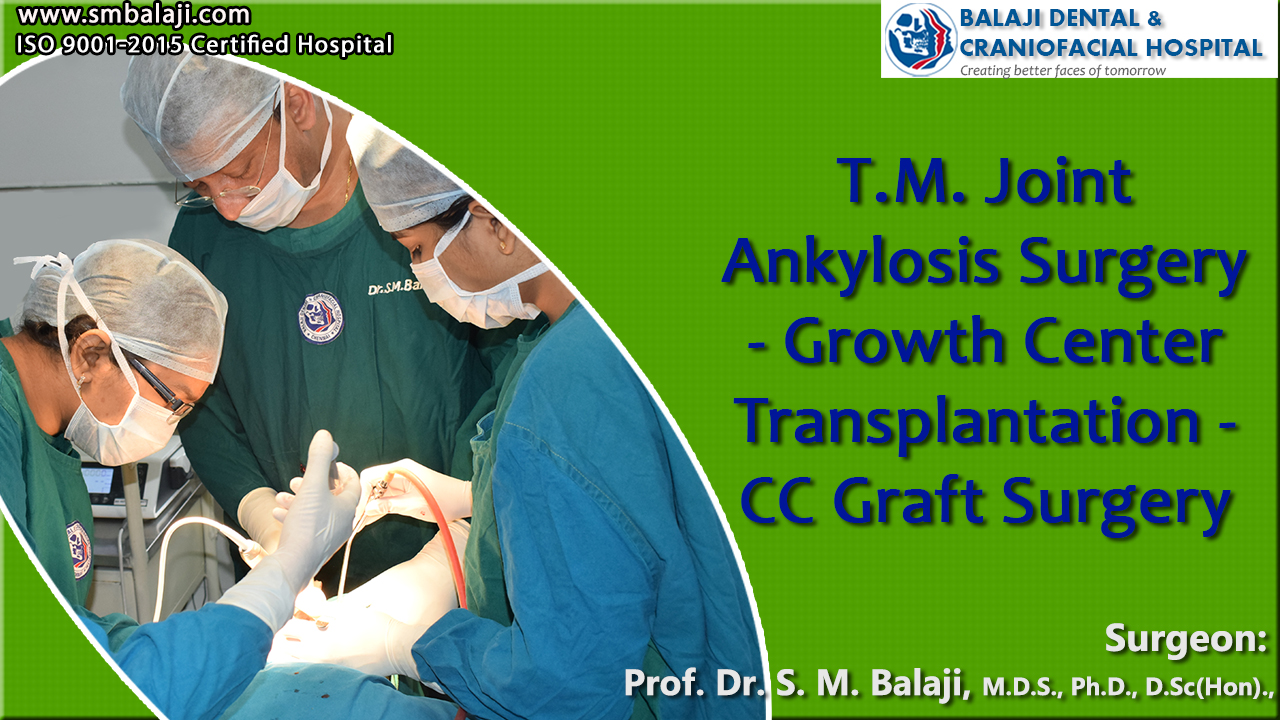 TMJ Ankylosis Surgery - Growth Center Transplantation - CC Graft Surgery