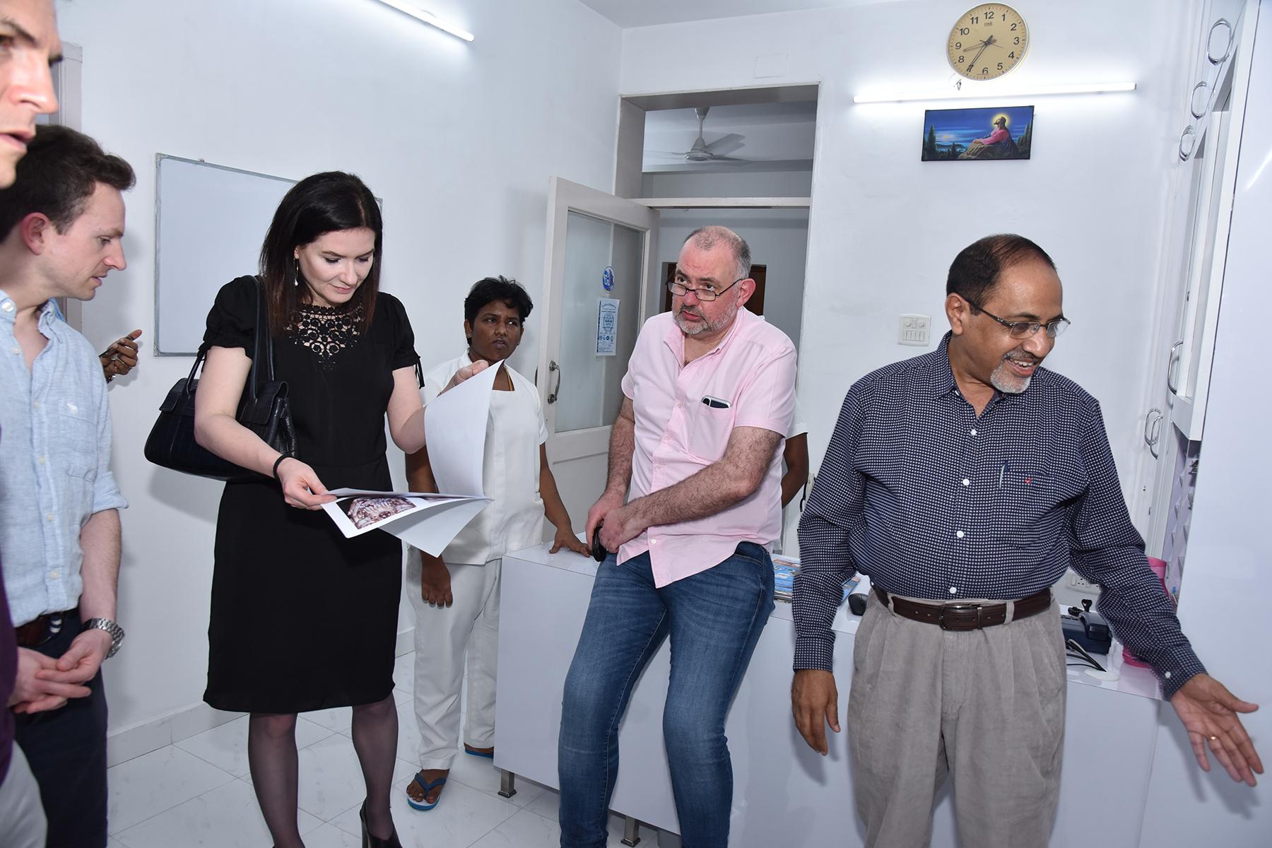 Ward rounds at Balaji Dental