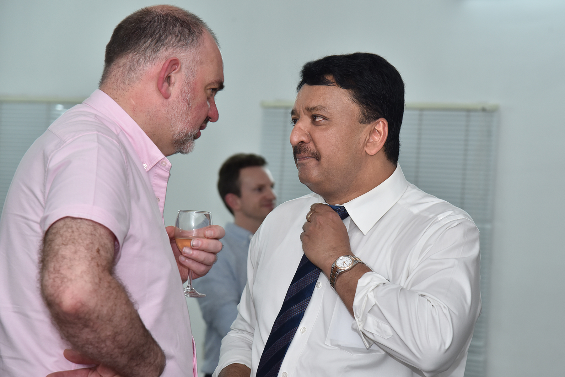 Dr SM Balaji with Dr Andrew Edwards