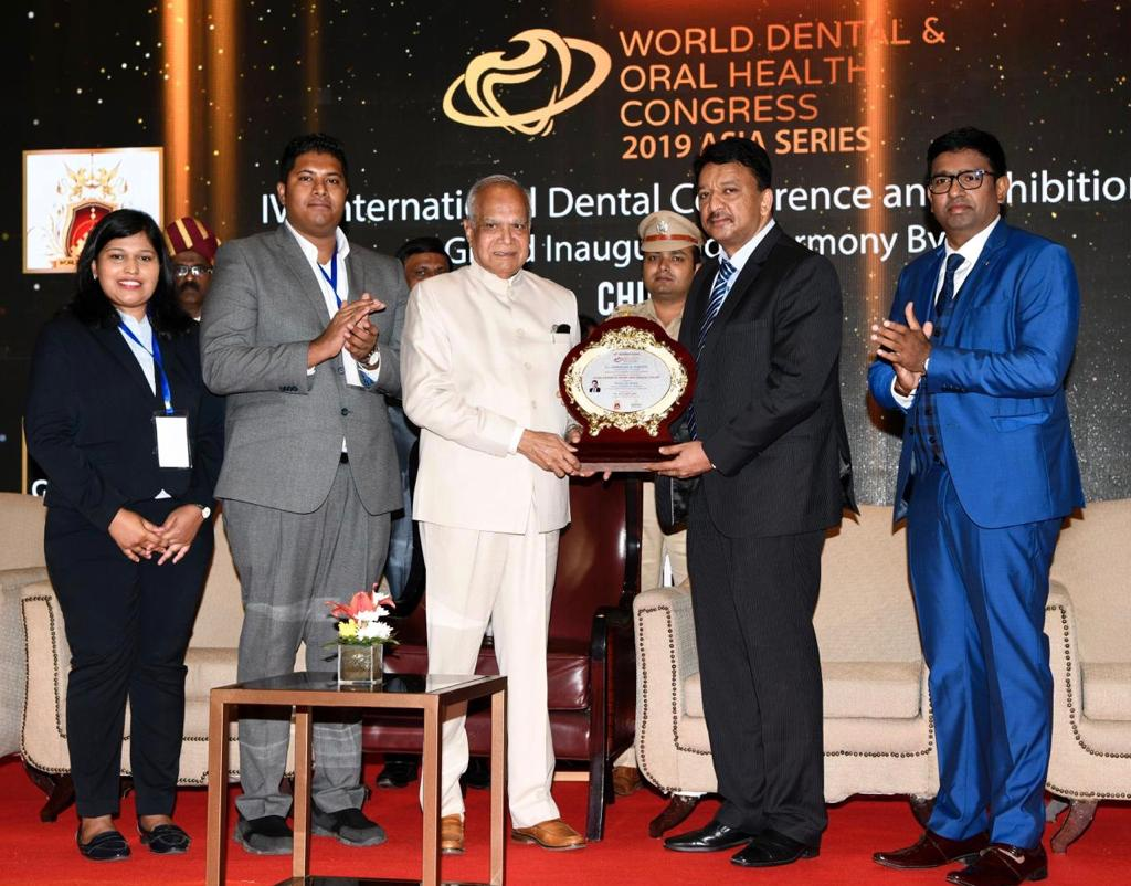 Prof. Dr SM Balaji Awarded by His Excellency Governor, Tamil Nadu