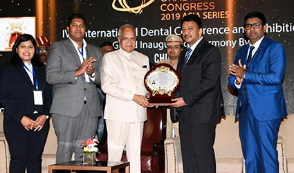 Prof. Dr SM Balaji Awarded by His Excellency Governor