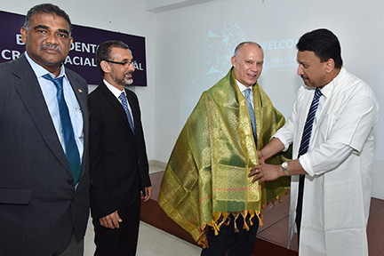 Dr Sm Balaji Honors Health Minister Of Seychelles With Shawl