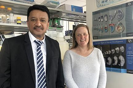 Dr SM Balaji with Dr Alice Goodson, Craniofacial Researcher