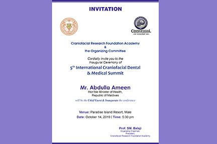 Invitation To The Craniofacial Conference