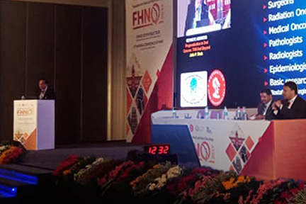 Dr Sm Balaji Chairing Dr Jatin Shah'S Keynote Lecture