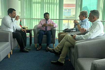 Dr SM Balaji with Health Minister, Dr Koppel and Mr Evans