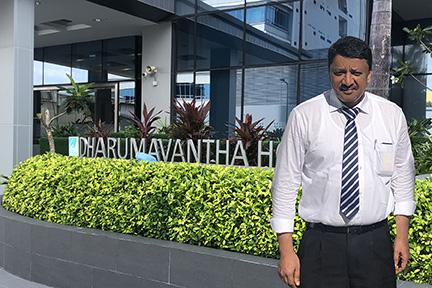 Dr Sm Balaji Outside Igmh Dharumavantha Hospital, Maldives