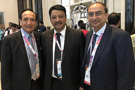 Dr SM Balaji with Dr Jatin Shah and Dr Rajendra Toprani