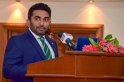 Honorable Abdulla Ameen inaugurates the summit
