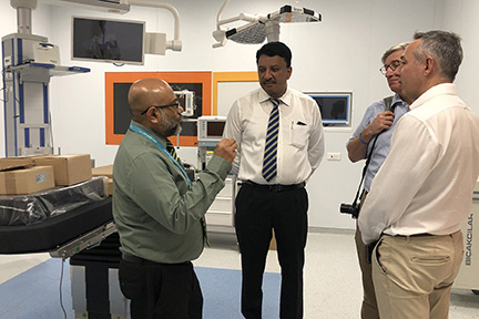 Dr SM Balaji with Dr Ali Nazeem at the new OT complex