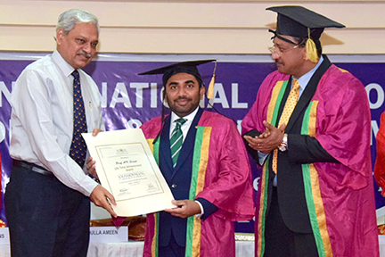 Minister presents Dr AK Singh with certificate