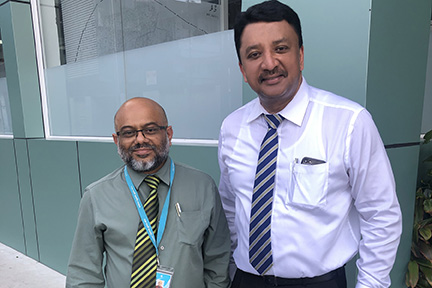 Dr SM Balaji with Dr Ali Nazeem, Director at IGMH