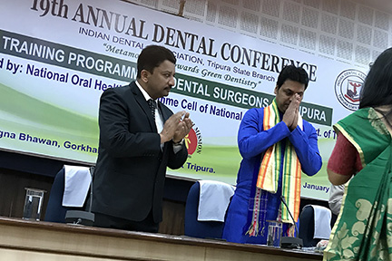 Dr Sm Balaji And His Excellency Biplab Kumar Deb, Chief Minister Of Tripura Being Welcomed To The Recently Concluded Ida Conference In Tripura