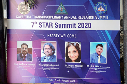 Dr SM Balaji was a key speaker who had been invited to the summit