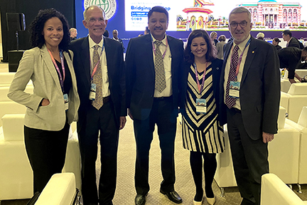 Dr Sm Balaji With Dr Jean-Luc Eisele, Executive Director, World Heart Foundation And Others At The Ncda Forum In Sharjah