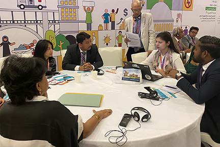 Dr Sm Balaji And Others Discussing Ways To Promote Awareness Of Noncommunicable Diseases At The Searo Alliance Meeting In Sharjah