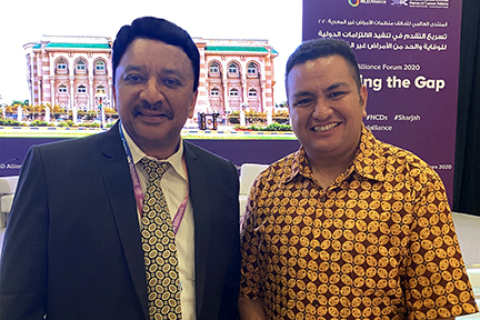 Dr Sm Balaji With A Delegate From The Fiji Islands At The Conclusion Of The Ncda Forum In Sharjah