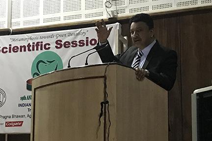 Dr Sm Balaji, Maxillo-Craniofacial Surgeon, Addressing The Audience
