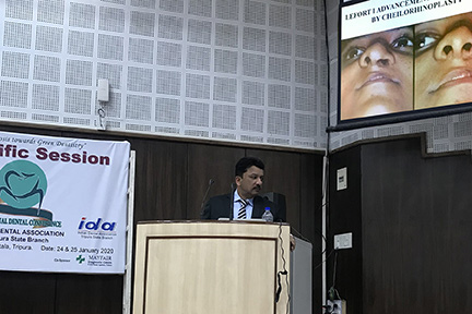 """Dr Sm Balaji At His Keynote Lecture At The Conference On """"Advanced Oral Surgery In Dental Practice&Quot;"""